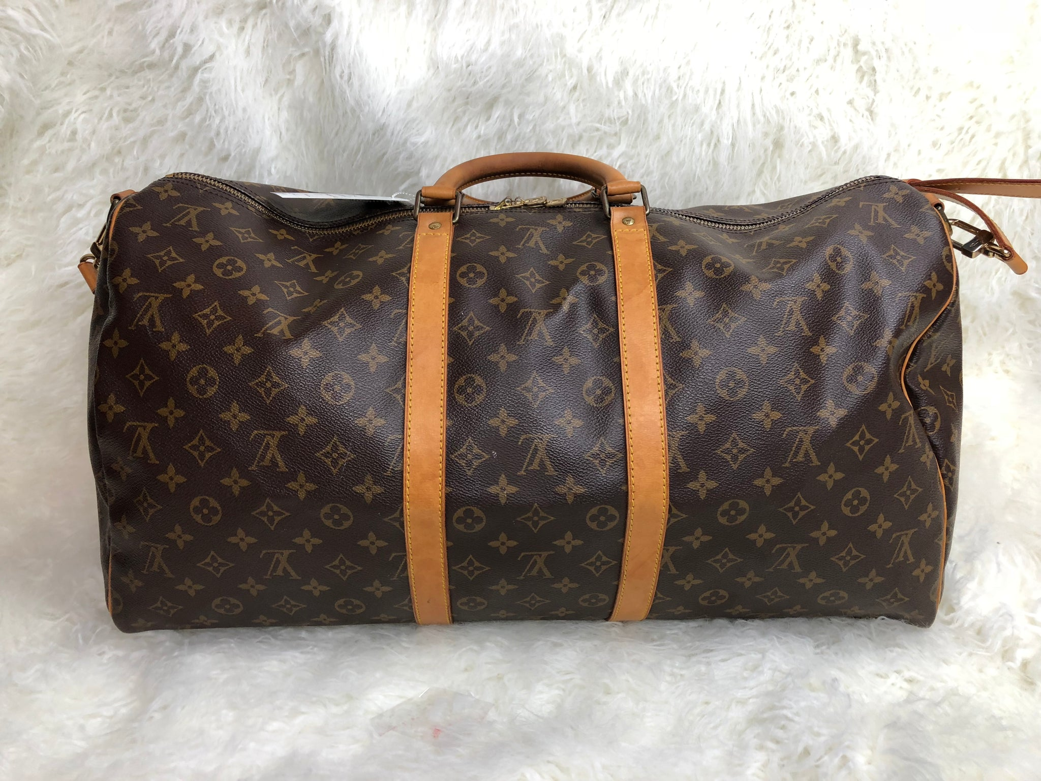 LOUIS VUITTON Keepall 55 Bandouliere Duffel Bag