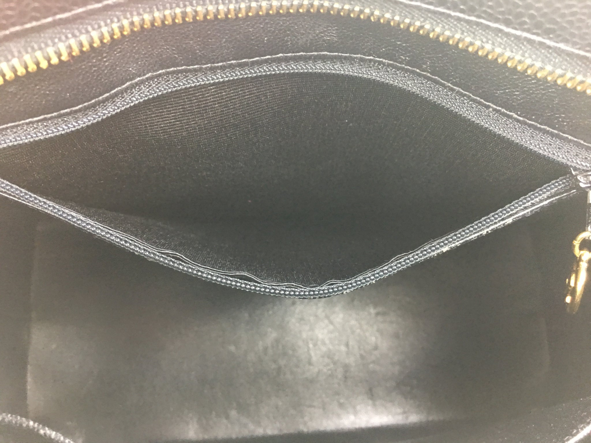 CHANEL Black Caviar Leather Medallion Tote