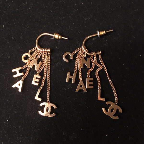 "*RARE* CHANEL ""Letters"" Earrings"