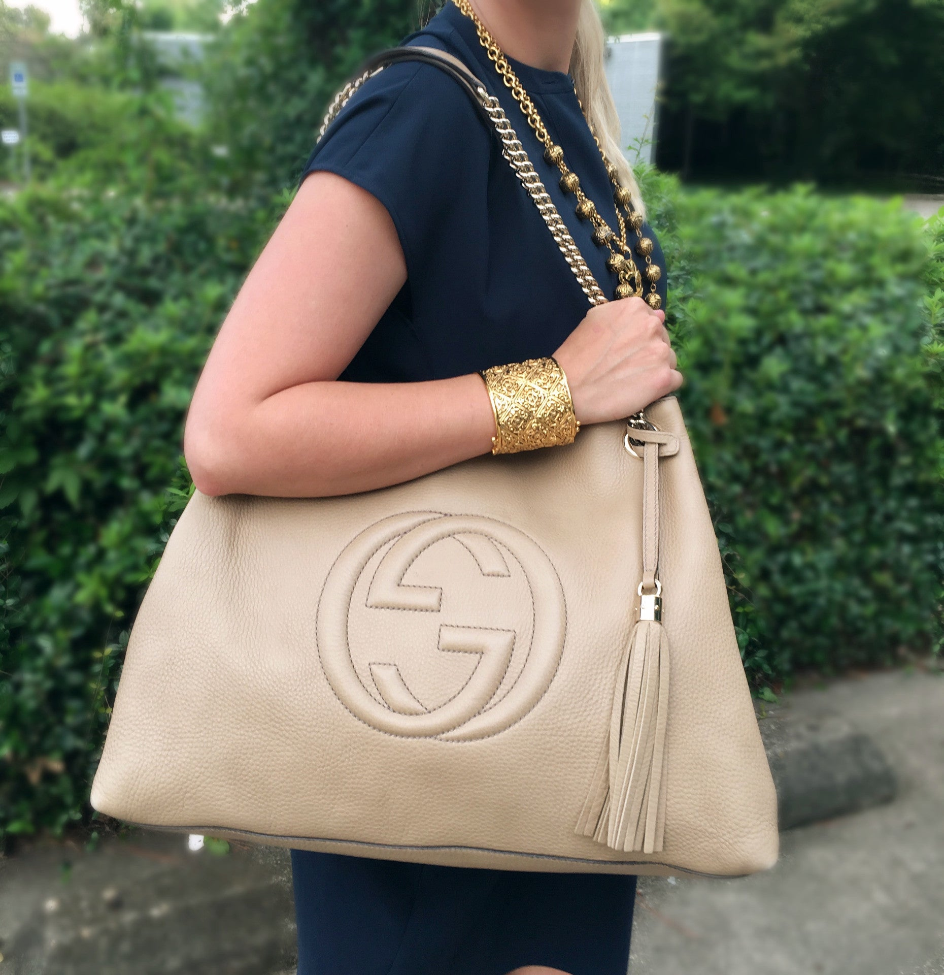 a73f51cb4e80 GUCCI Soho Pebbled Leather Tote (Large) – Pretty Things Hoarder
