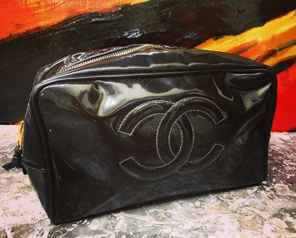 CHANEL Black Clutch / Cosmetic Case