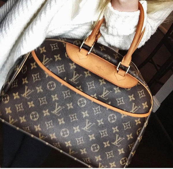 LOUIS VUITTON Monogram Deauville Bag + Free Bag Charm