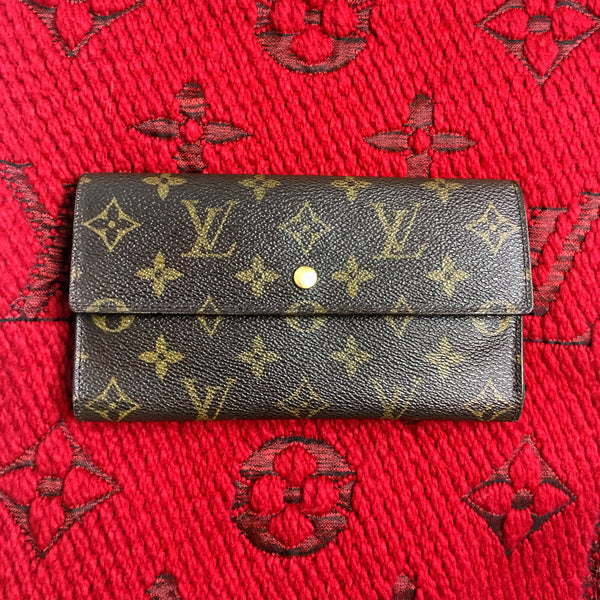 LOUIS VUITTON Monogram Tri-fold International Long Wallet