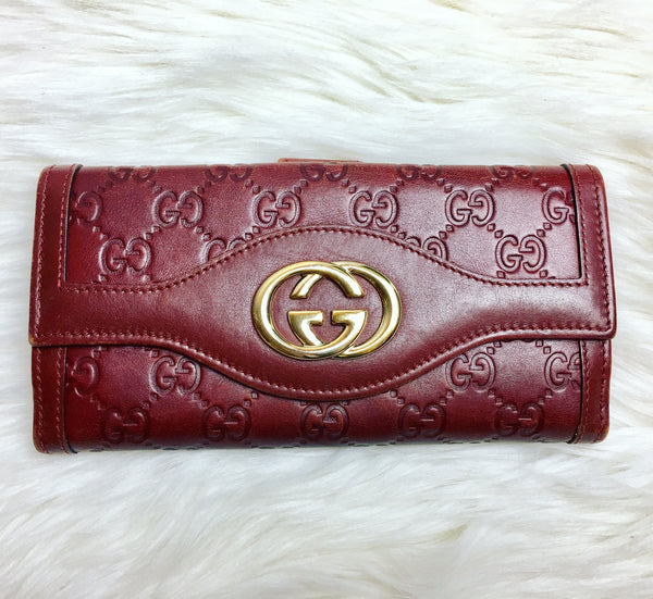 GUCCI Guccissima Embossed Wallet