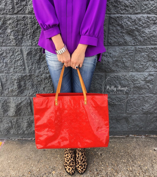 LOUIS VUITTON Vernis Reade GM Shoulder Tote Bag