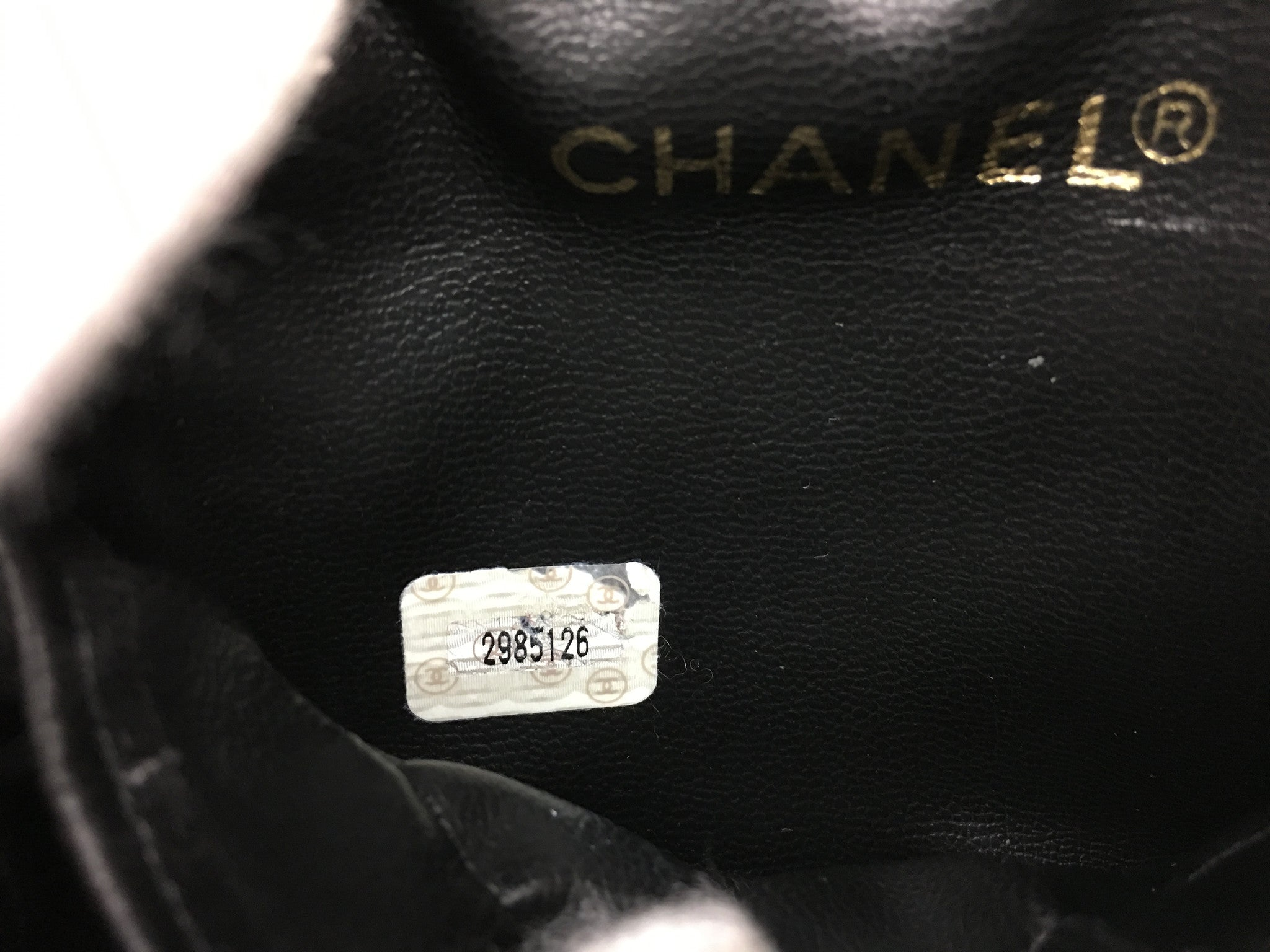 CHANEL Black Makeup Case
