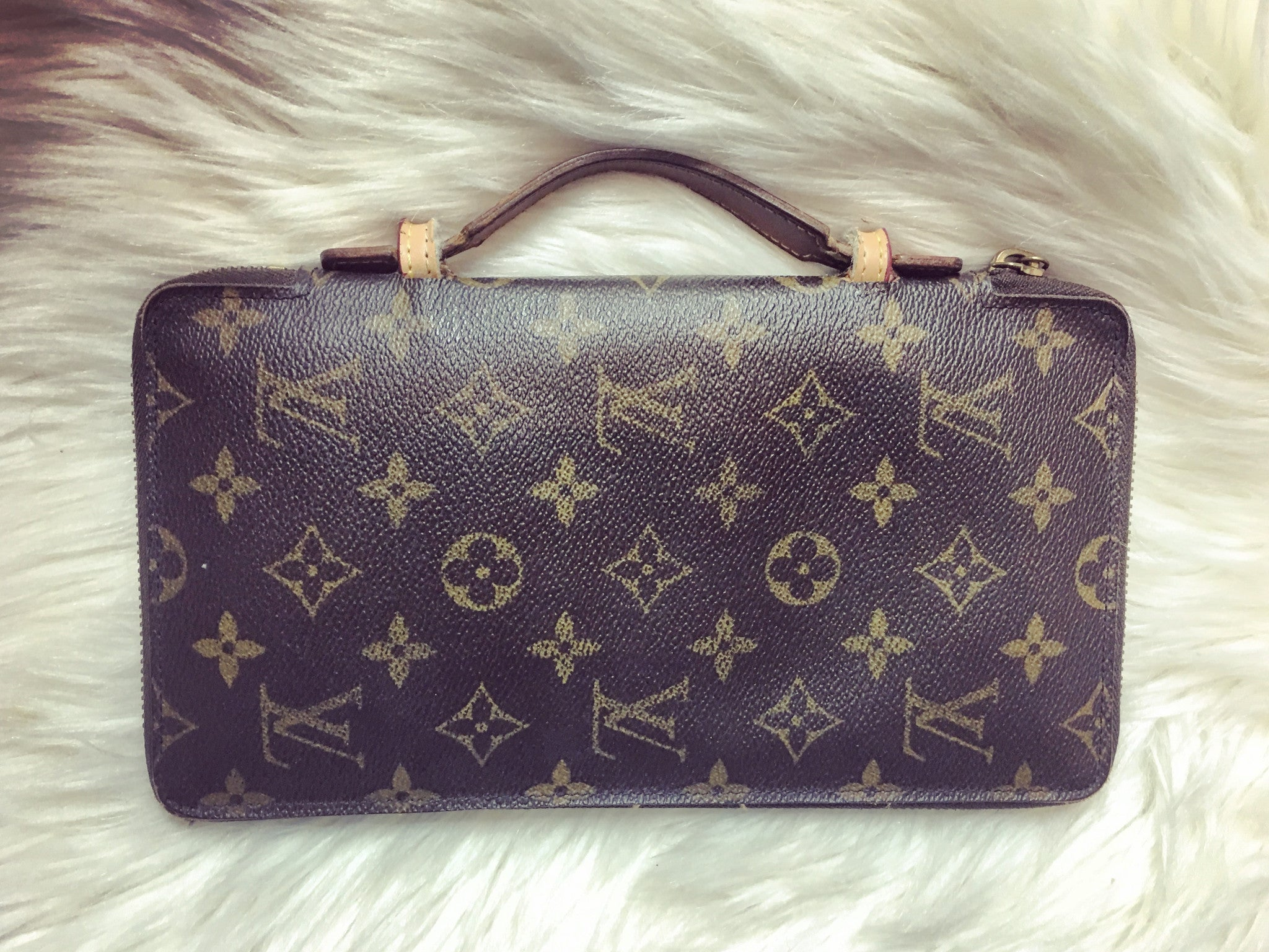 LOUIS VUITTON Monogram Zippy Organizer Travel Clutch Wallet