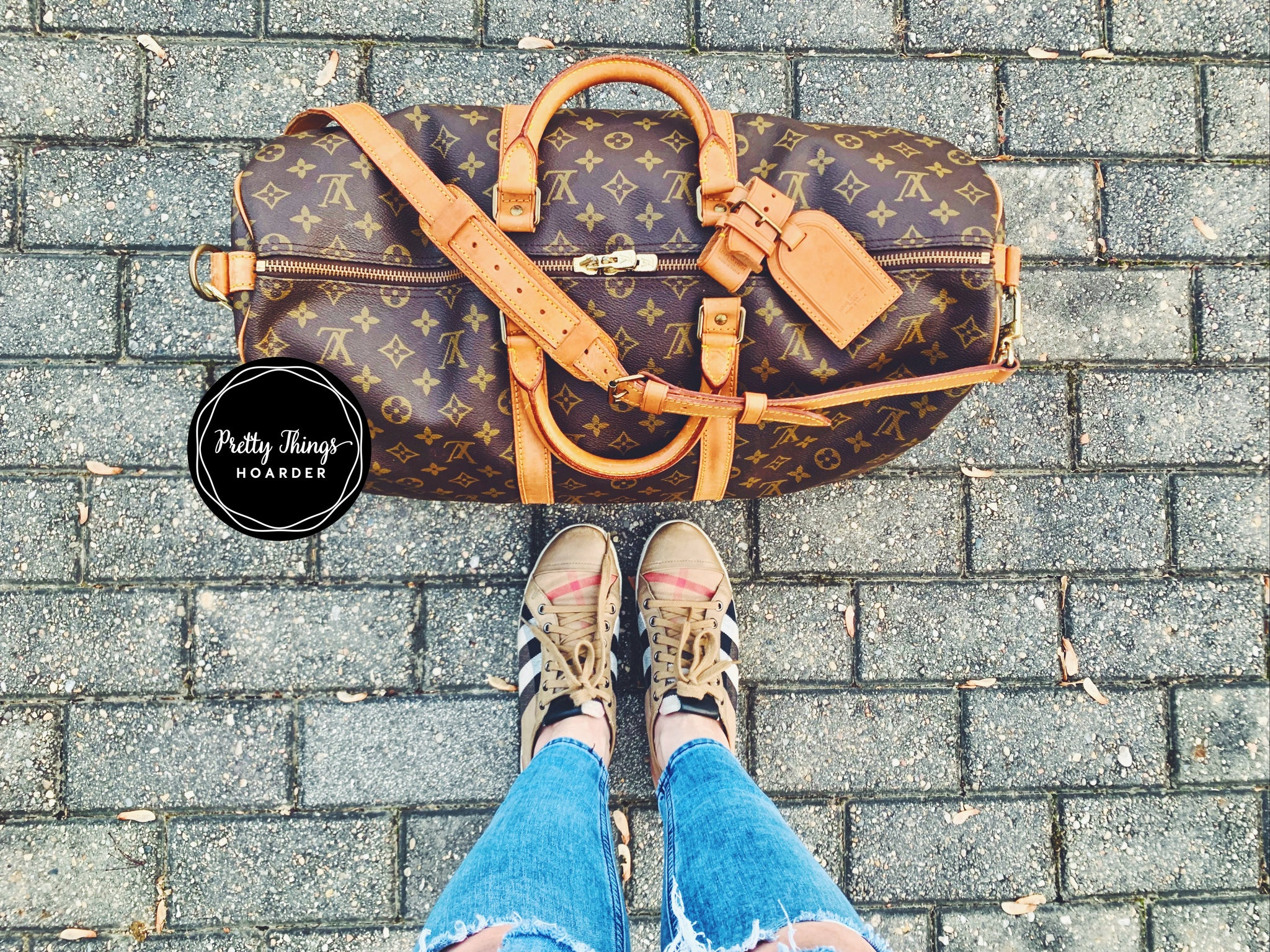 LOUIS VUITTON Keepall Bandouliere 50 Duffel Bag