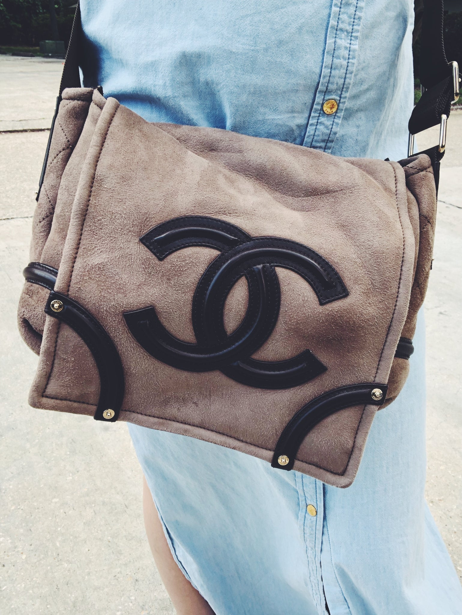 CHANEL Suede Crossbody Bag