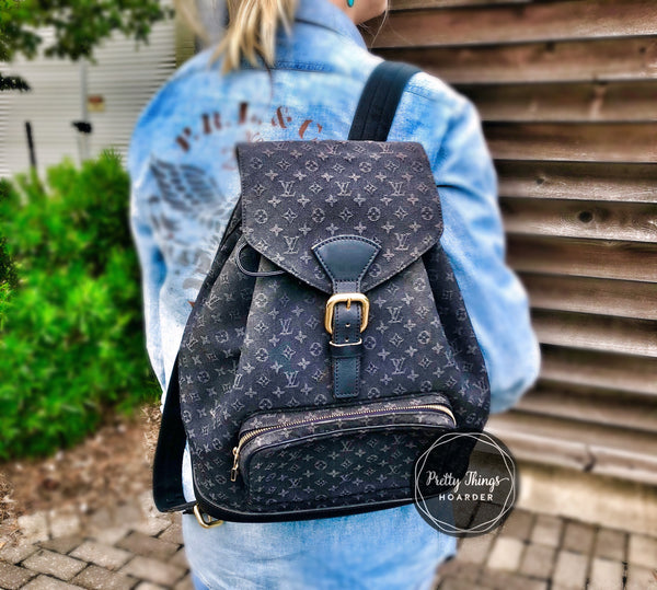 LOUIS VUITTON Navy GM Backpack