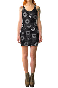 Vinyl Junkie Bodycon Dress - Secret Lives...