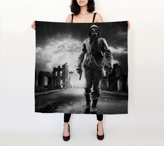 Doomsday Square Scarf - Secret Lives...