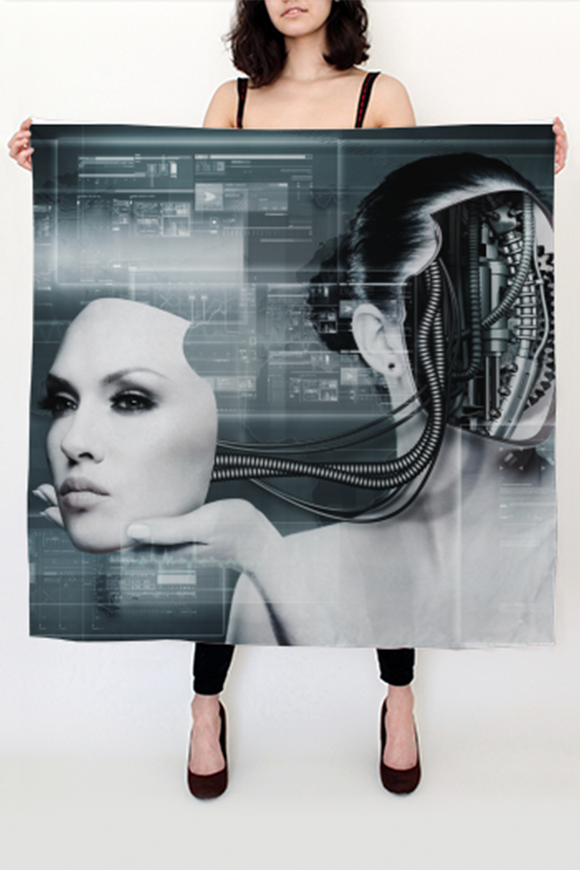 Futura Big Square Scarf - Secret Lives...