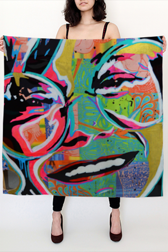 Janice Joplin Large Square Scarf - Secret Lives...