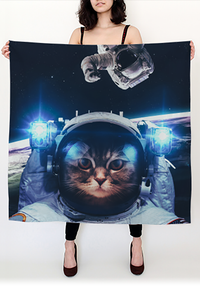 Galactic Kitty Square Scarf - Secret Lives...