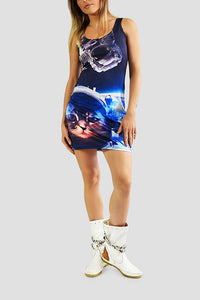 Galactic Kitty Bodycon Dress - Secret Lives...