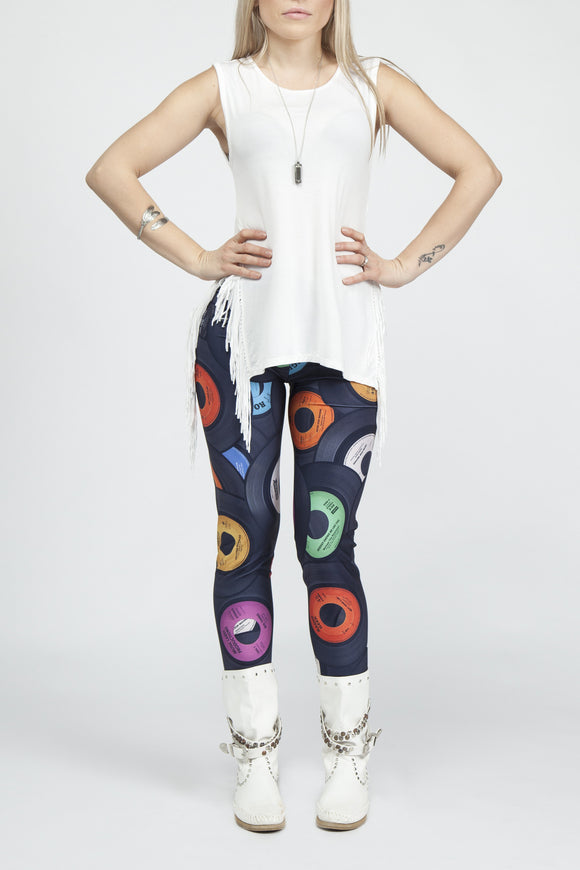 Vinyl Junkie Leggings - Secret Lives...