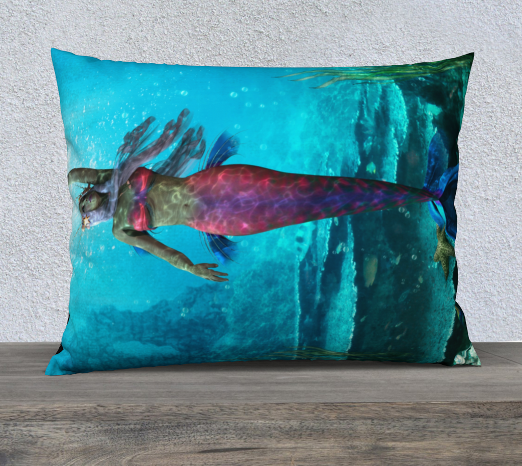 Be a Mermaid Throw Pillow Cases - Secret Lives...