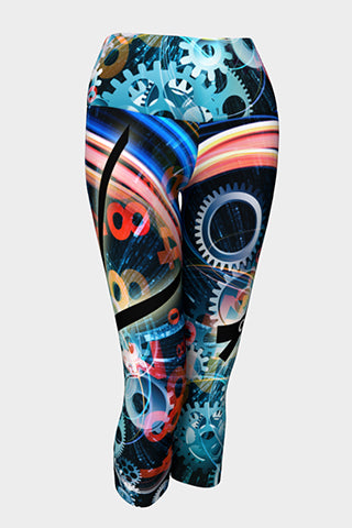 Time Flies Yoga Capris - Secret Lives...