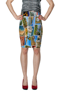 Take Me Away Fitted Skirt - Secret Lives...
