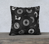 Vinyl Junkie B & W Throw Pillow Cases - Secret Lives...