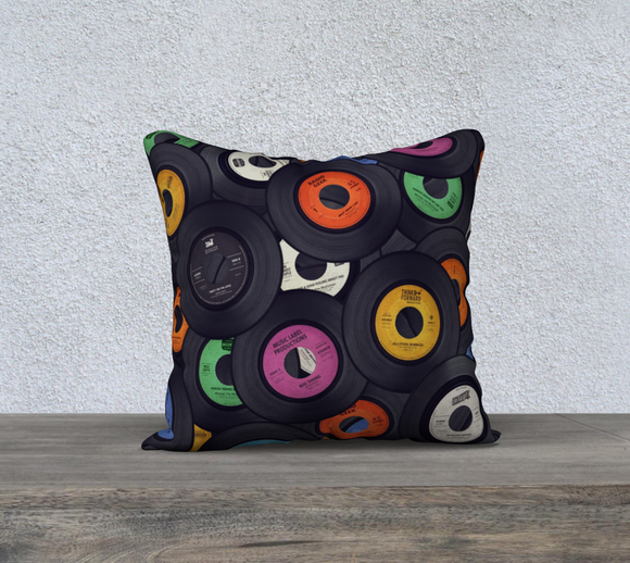 Vinyl Junkie in Colour Throw Pillow Cases - Secret Lives...