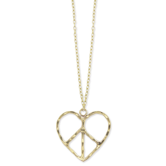 Peace & Love Necklace - Secret Lives...