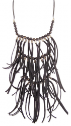 Out Of Control Black Fringe Necklace - Secret Lives...