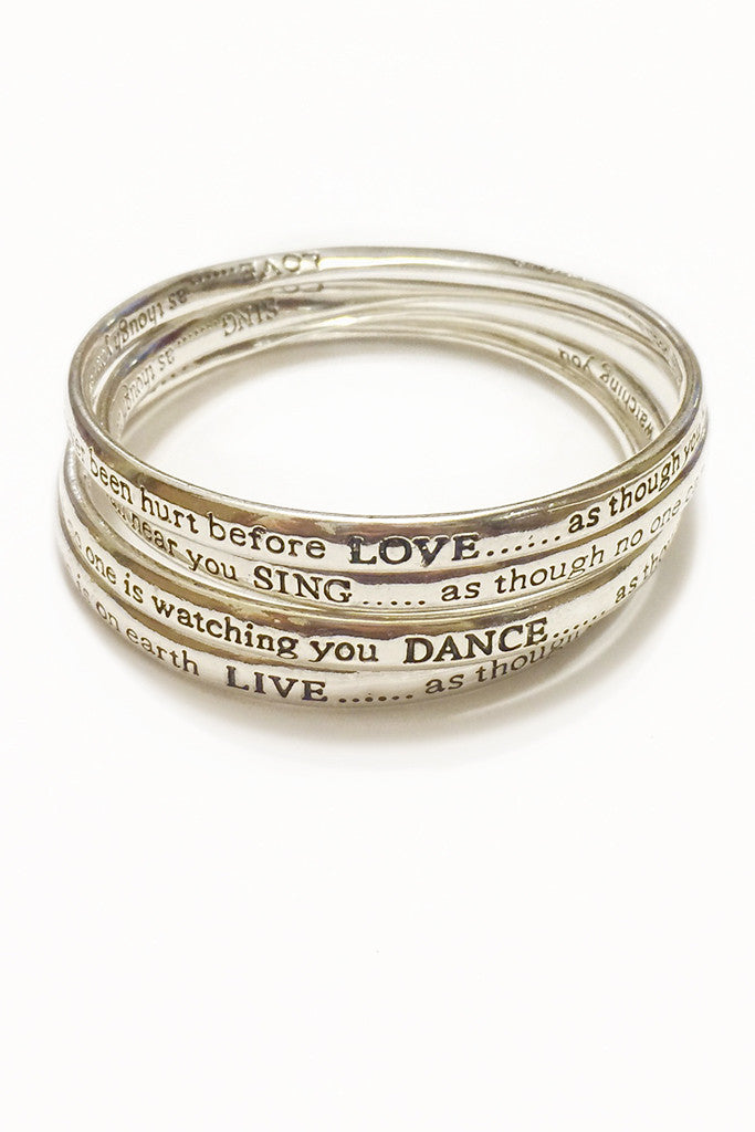 Rhythm of Life Bangle Bracelet Set - Secret Lives...