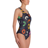 Vinyl Junkie One-Piece Swimsuit - Secret Lives...