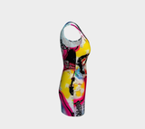 Soulful Secrets x Matt Pine Art Bodycon Dress - Secret Lives...