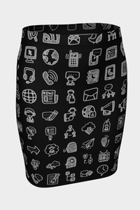 Social Butterfly Fitted Skirt - Secret Lives...