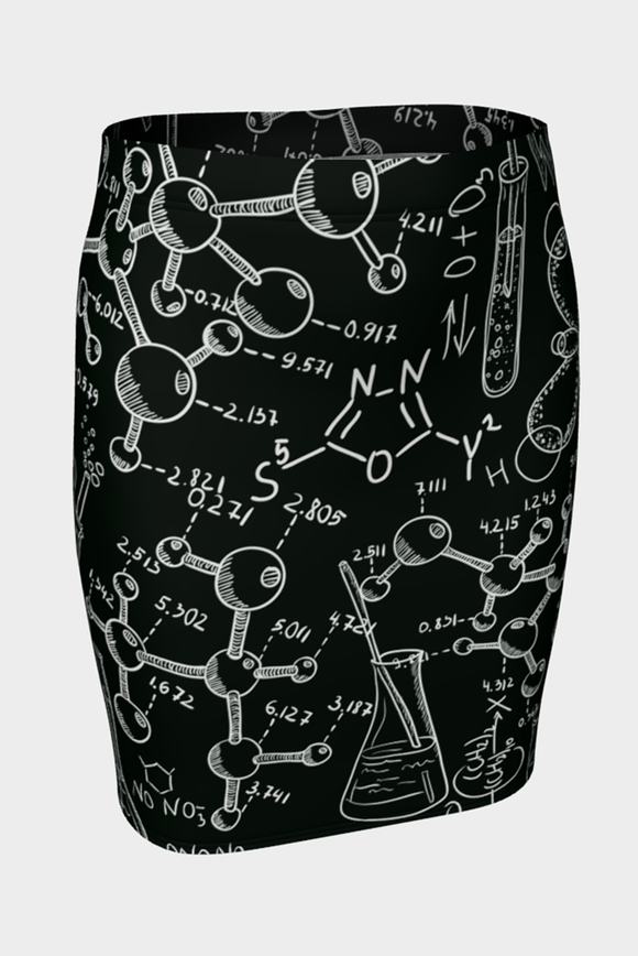 Mad Science Fitted Skirt - Secret Lives...