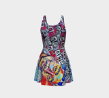 Tupac x Matt Pine Art Flare Dress - Secret Lives...