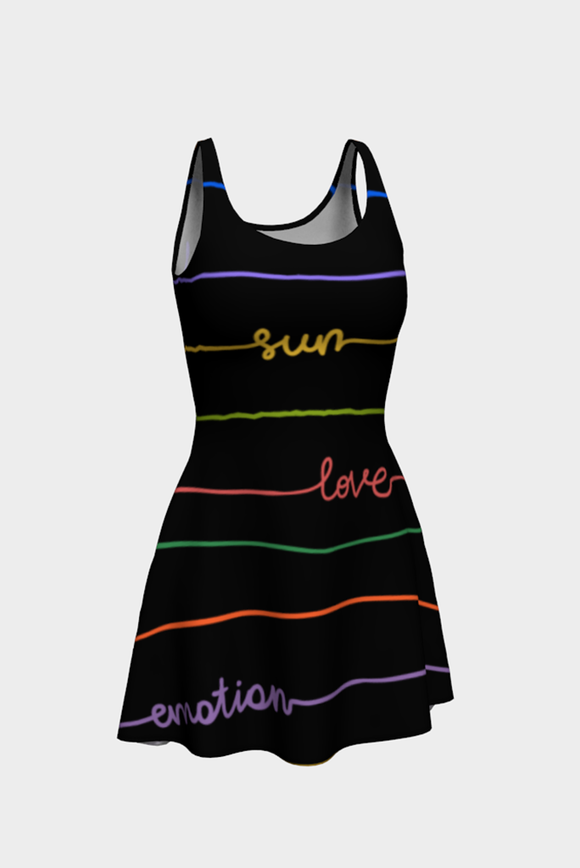 Good Vibrations Flare Dress - Secret Lives...