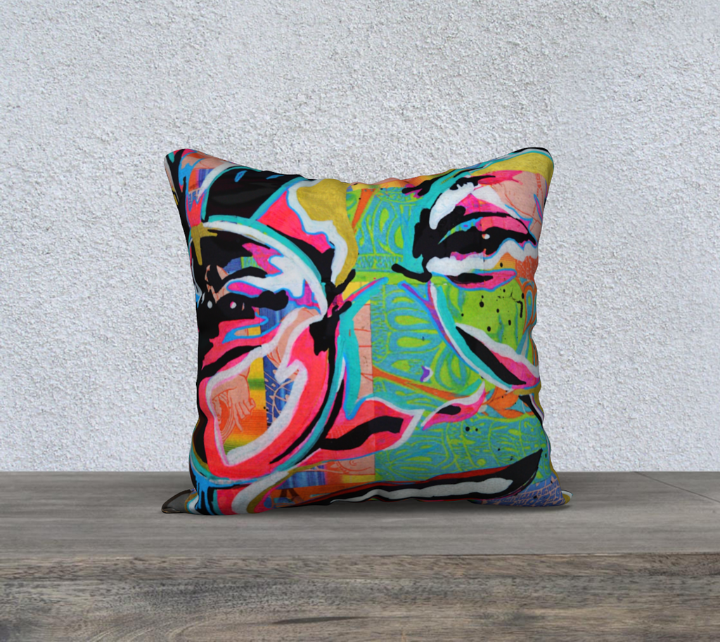 Janice Joplin Throw Pillow Cases - Secret Lives...