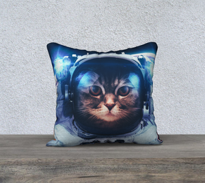 Galactic Kitty Throw Pillow Cases - Secret Lives...