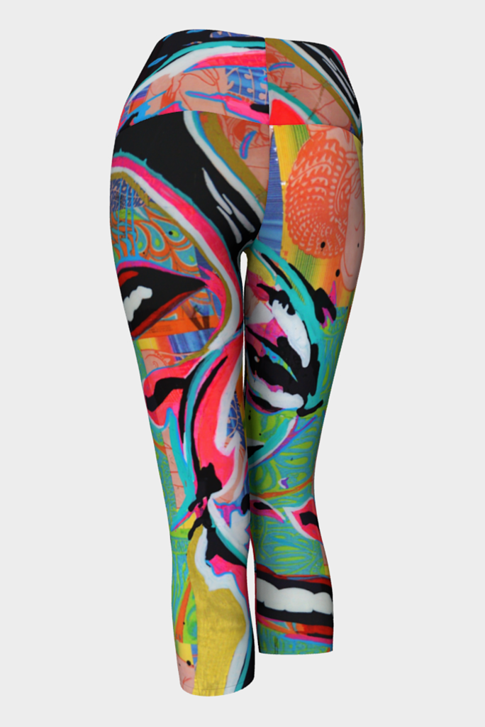Janice Joplin Yoga Capris Back View