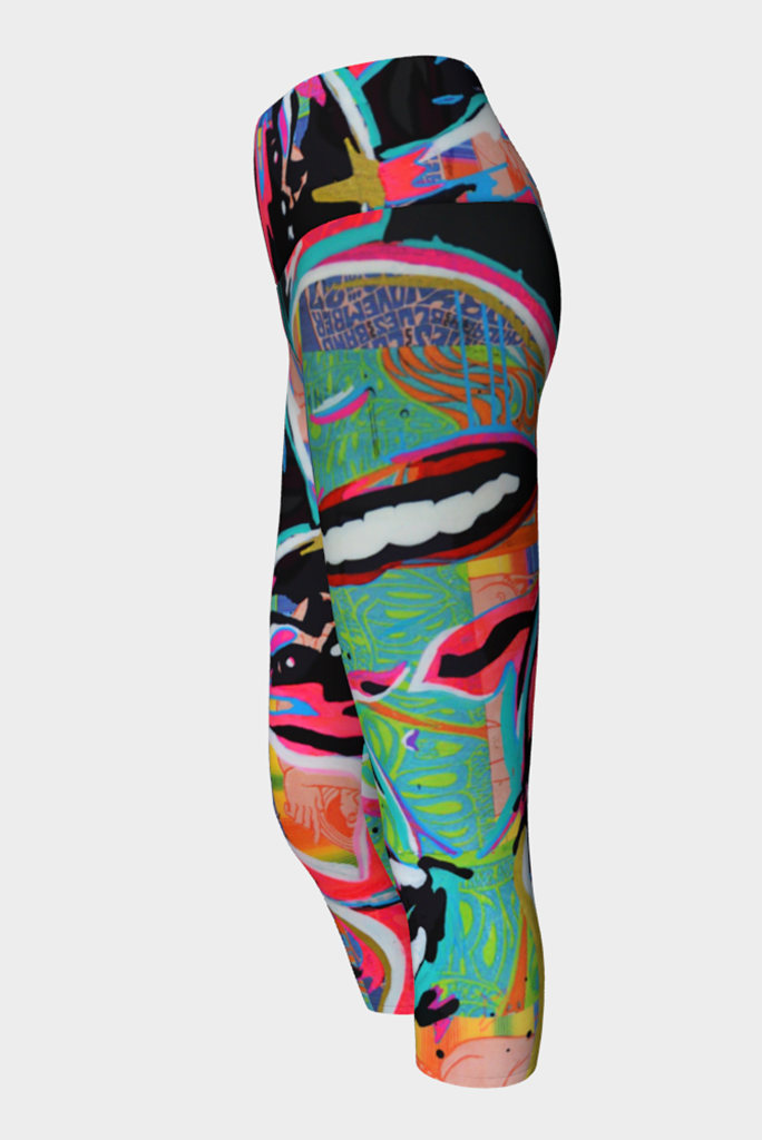 Janice Joplin Yoga Capris Side View