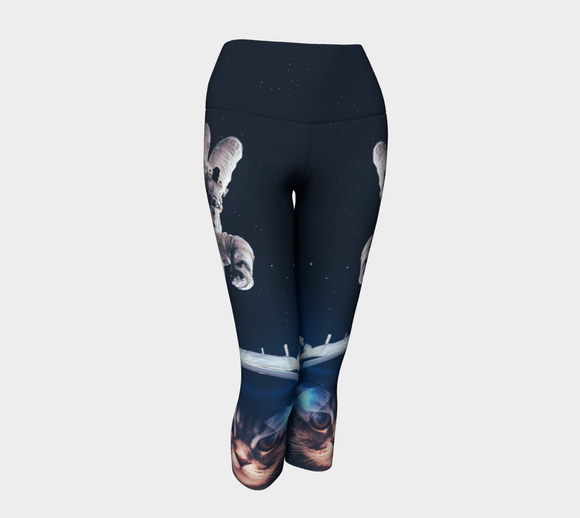 Galactic Kitty Yoga Capris - Secret Lives...