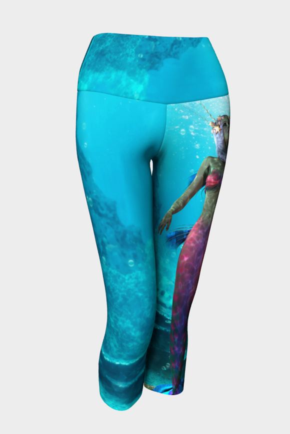 Be A Mermaid Yoga Capris - Secret Lives...