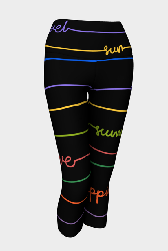 Good Vibrations Yoga Capris - Secret Lives...