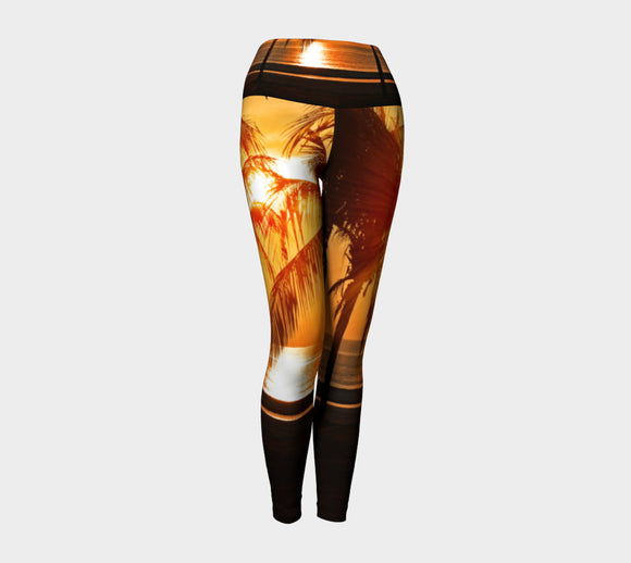 Cool Summer Nights Yoga Leggings - Secret Lives...