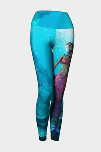 Be A Mermaid Yoga Leggings - Secret Lives...
