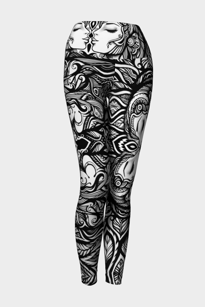 Law Of Attraction Yoga Leggings - Secret Lives...