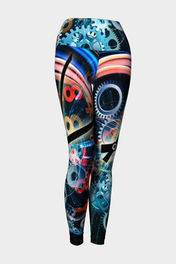 Time Flies Yoga Leggings - Secret Lives...