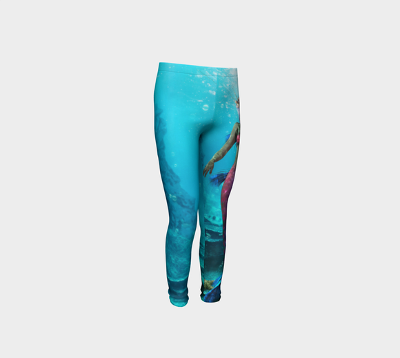 Be A Mermaid Youth Leggings - Secret Lives...