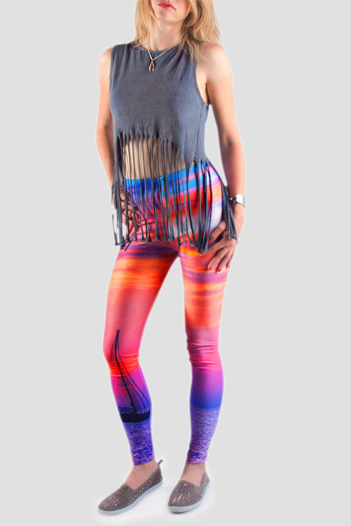 When The Sun Goes Down Leggings - Secret Lives...
