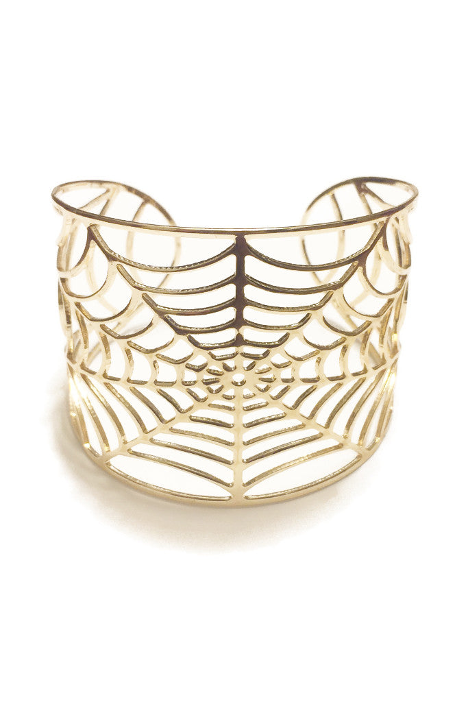 Tangled Webs Gold Cuff Bracelet - Secret Lives...