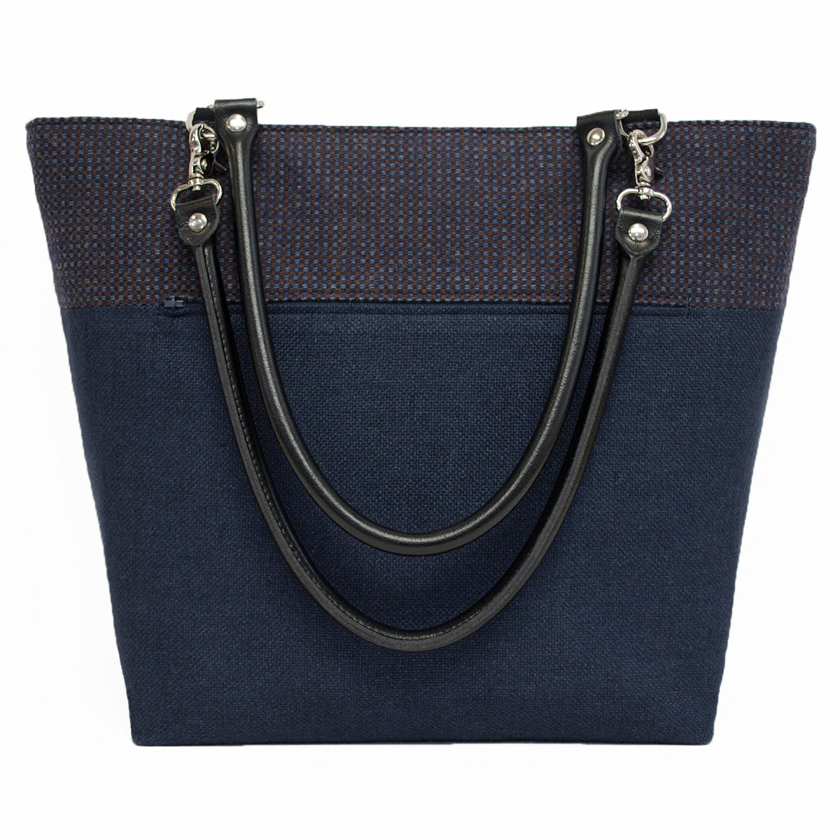 Blue Squares Wool Shoulder Bag